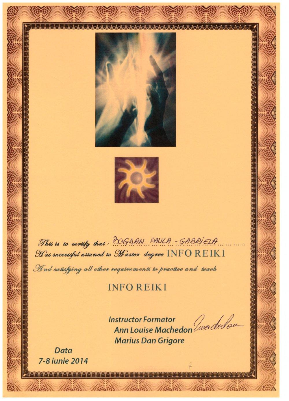 Diploma Info Reiki