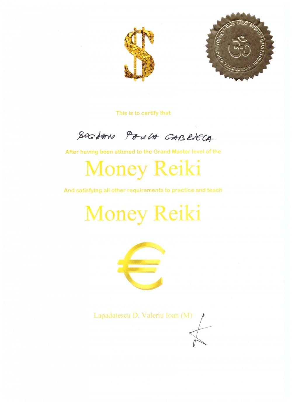 Diploma Money Reiki