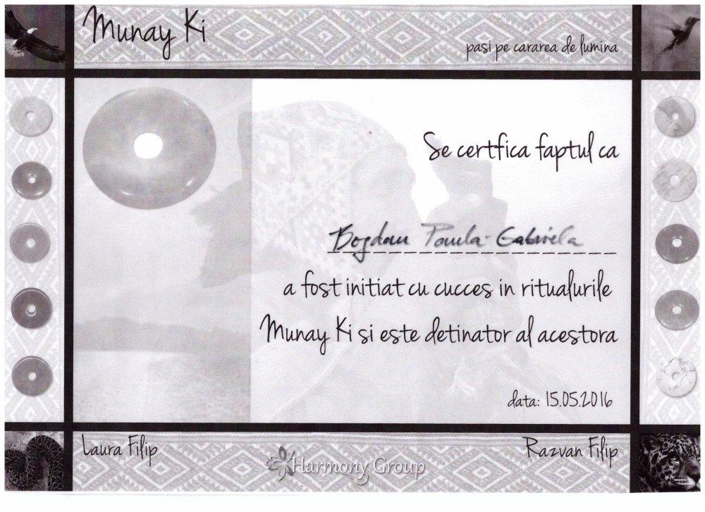 Diploma Munay ki