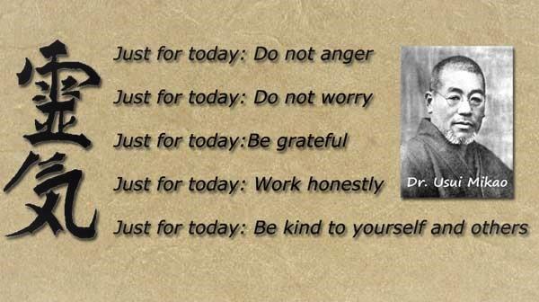 Cele 5 principii Usui Reiki