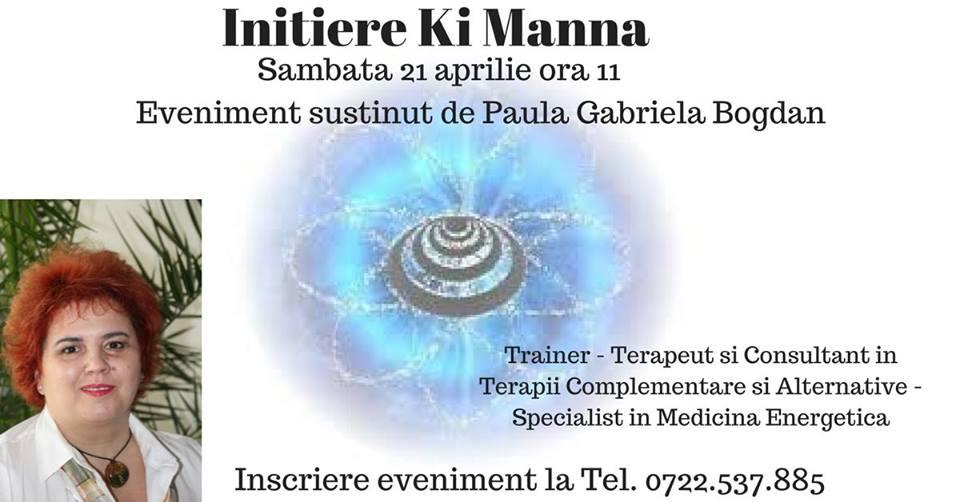 Curs de initiere Ki Manna - evenimente ezoterice organizate de Centrul de Sanatate Gabriela