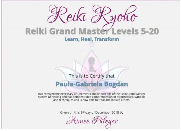 Grand Master Reiki Level 5-20