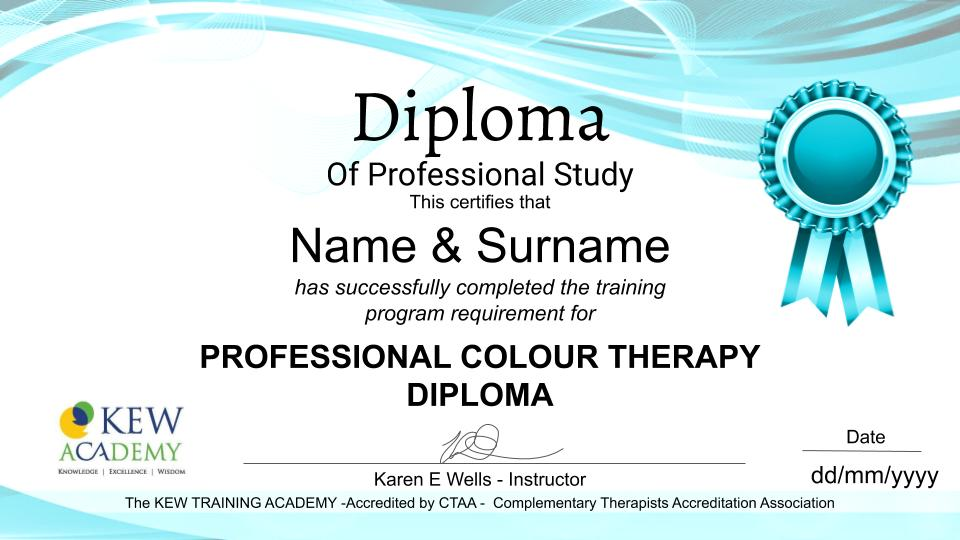PROFESSIONAL COLOUR THERAPY DIPLOMA
