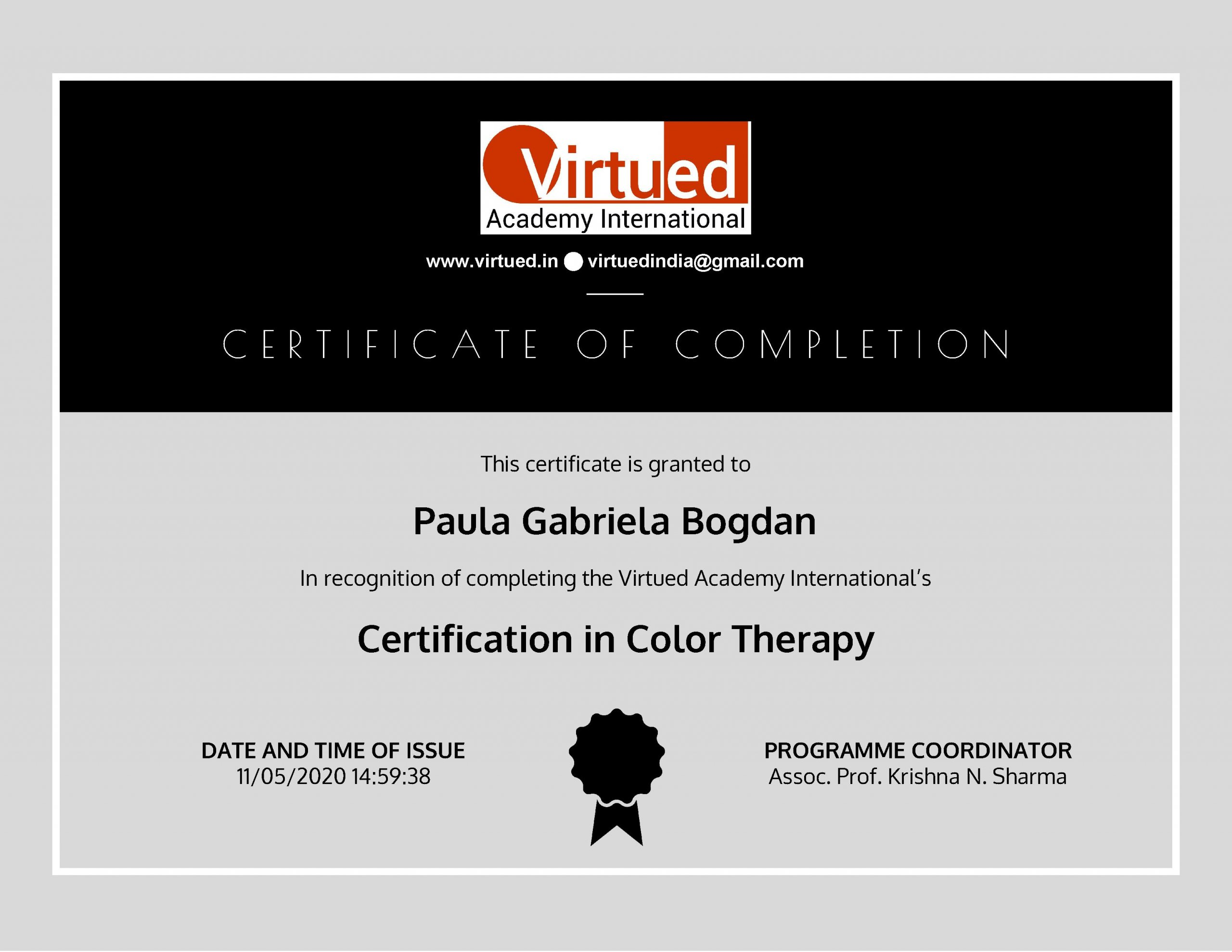 Certification in Color Therapy