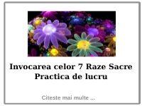 Invocarea celor 7 Raze Sacre  Practica de Lucru